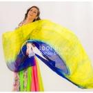 Velo de seda degradado Azul/Amarillo